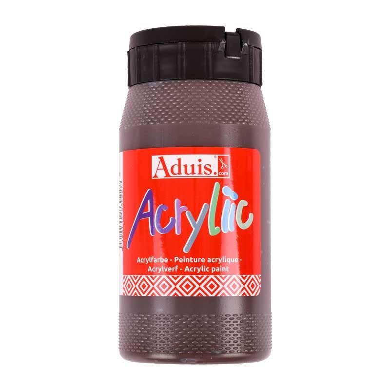 Peinture Acryliic Aduis - 500 ml, brun