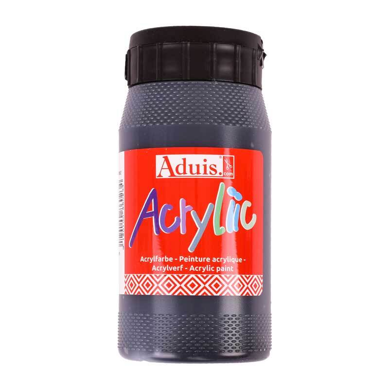 Aduis Acryliic acrylverf - 500 ml, zwart