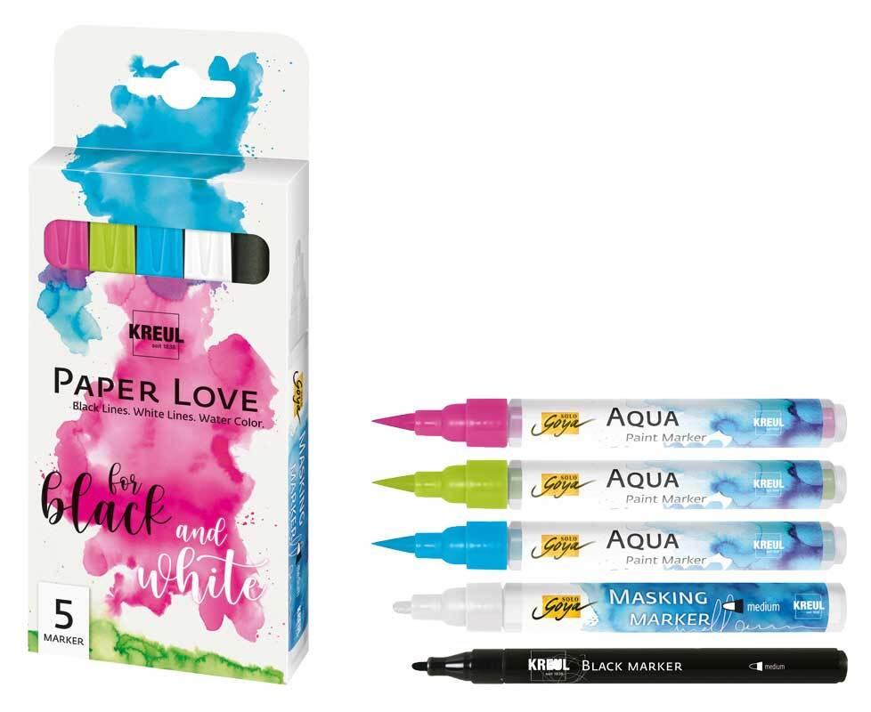PaperLove markerset, 5-delig