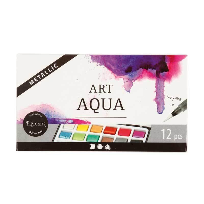 Art Aqua Aquarellfarben - 12 Farben, Metallic