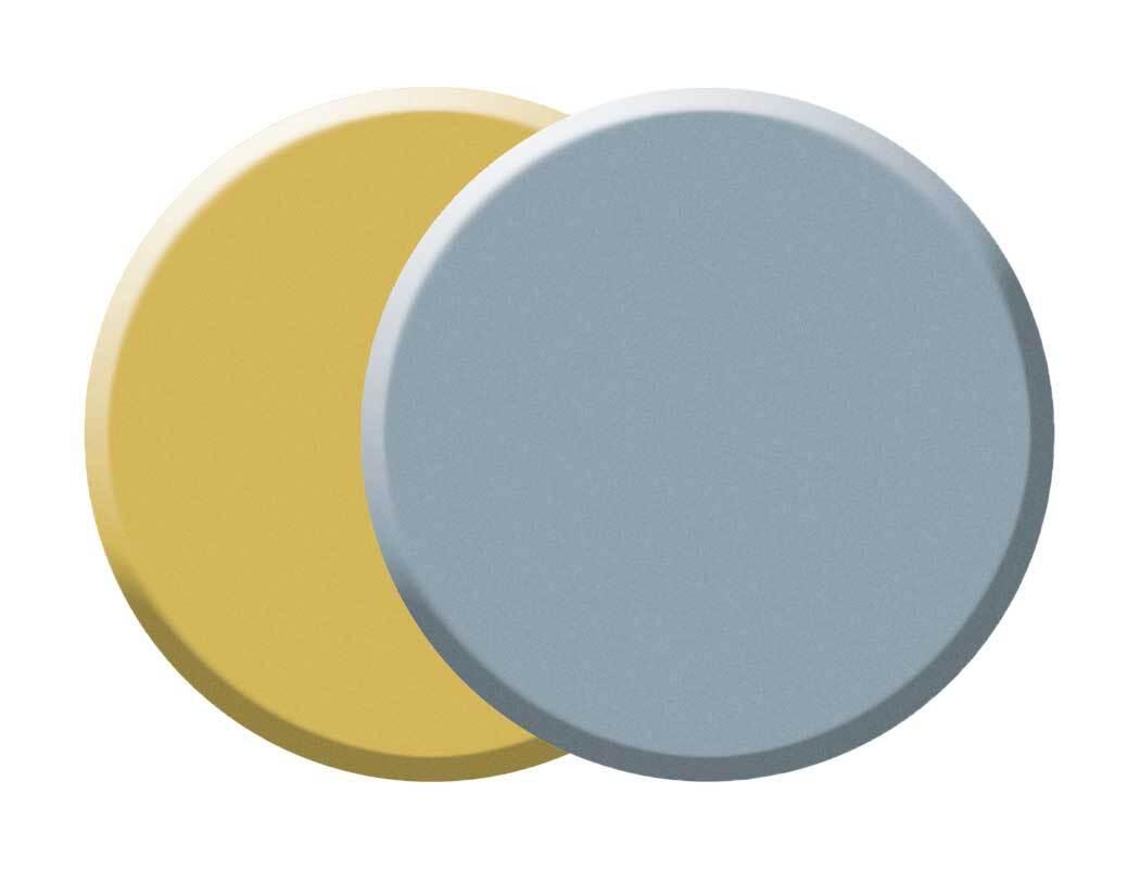 Temperablok set - 55 mm, goud/zilver