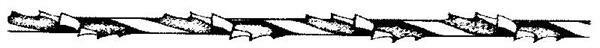 Spirallaubsägeblätter - 12er Pkg., Gr.1