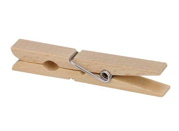 Wasknijpers van beukenhout - 70 mm, 50 st.