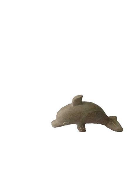 Speksteen grof voorbewerkt, dolfijn
