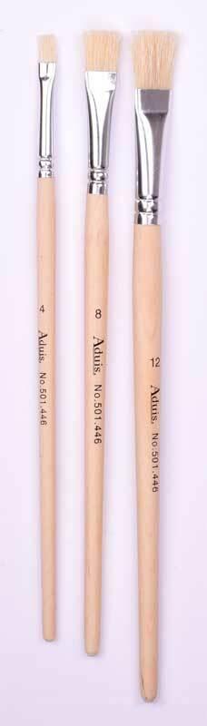 Set pinceaux  brosse - 3 pces Nr. 4,8,12