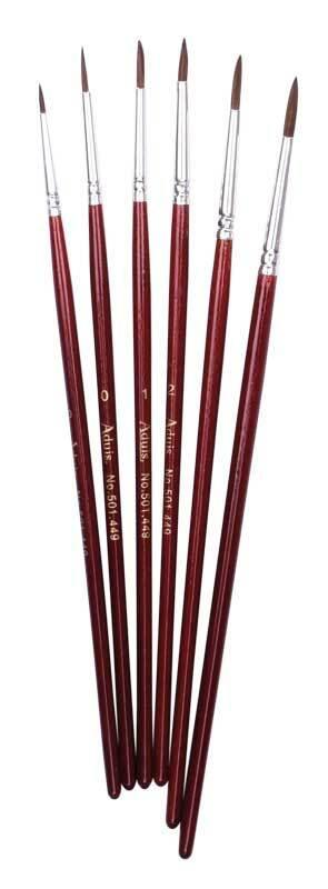 Schulpinselset - 6 Stk., Haarpinsel