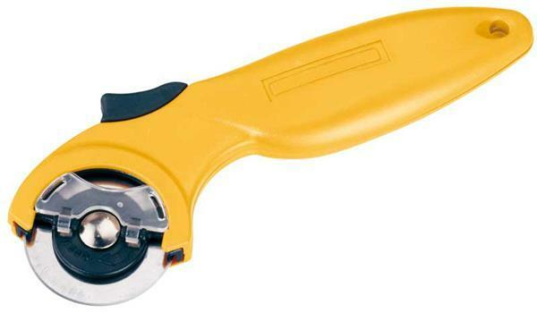 Rollmesser mit Griff, 165 mm