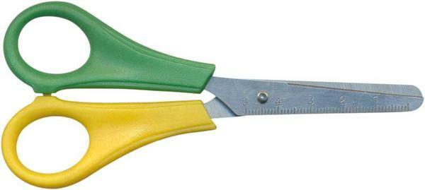 Kinderschaar - 13,5 cm, voor linkshandigen, rond