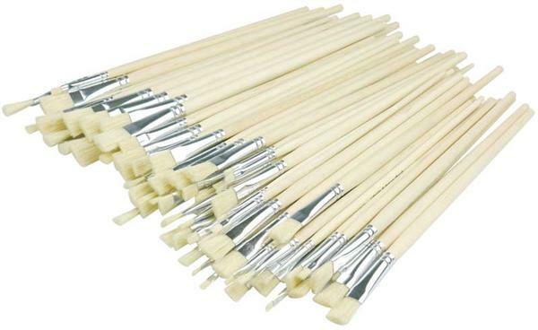 Varkenshaar penselen - voordeelverpakking, 84 st.