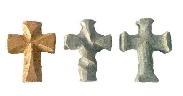 Speckstein - mit Loch, Kreuz