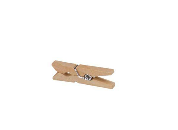 Pinces à linge en hêtre - 30 mm, 25 pces