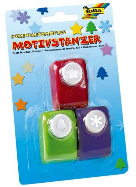 Motiefpons - 3 stuks, kerst