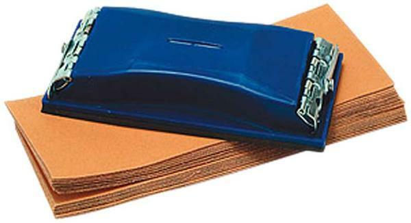 Handschleifer mit Schleifblätter, 160 x 85 mm