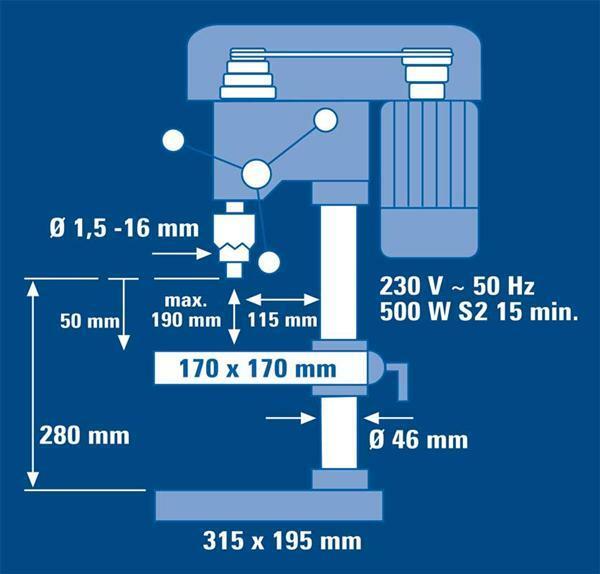 Einhell Tischbohrmaschine, 230 V