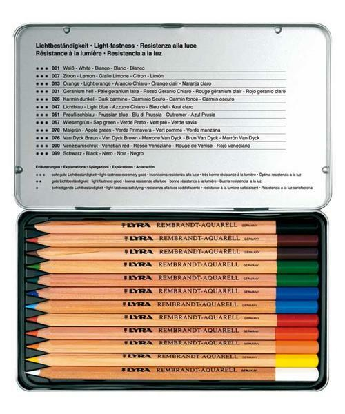 Crayons aquarelle, 12 pces