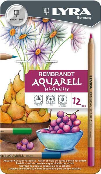 Aquarell-Farbstifte, 12 Stk./Pkg.