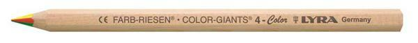 Lyra crayon de couleur géant® - 4 colors, naturel
