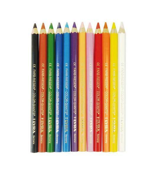Lyra® crayon de couleur géant - 12 pces, vernis