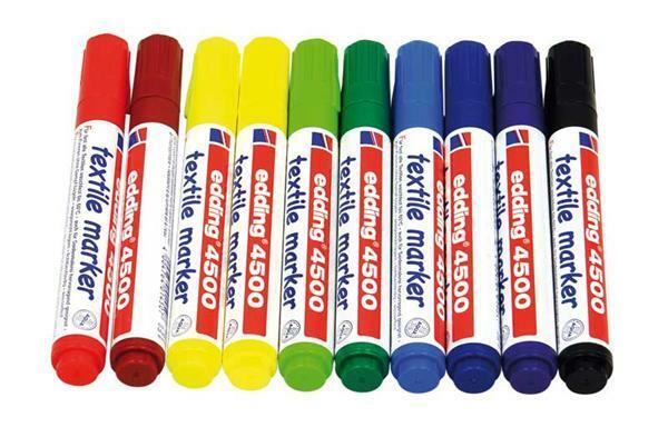 Edding 4500 - textielmarker, 2 - 3 mm, 10 st.
