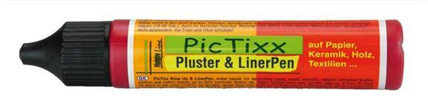PicTixx Pluster & Liner Pen - 29 ml, rubinrot