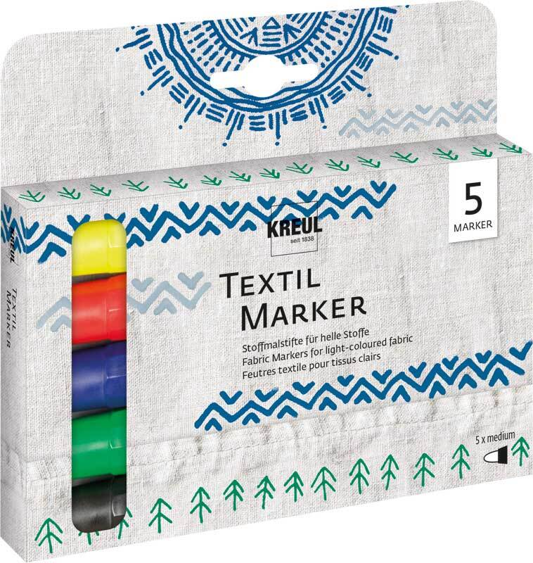 T-shirtmarker Texi Mäx - 2 - 4 mm, 5 stuks