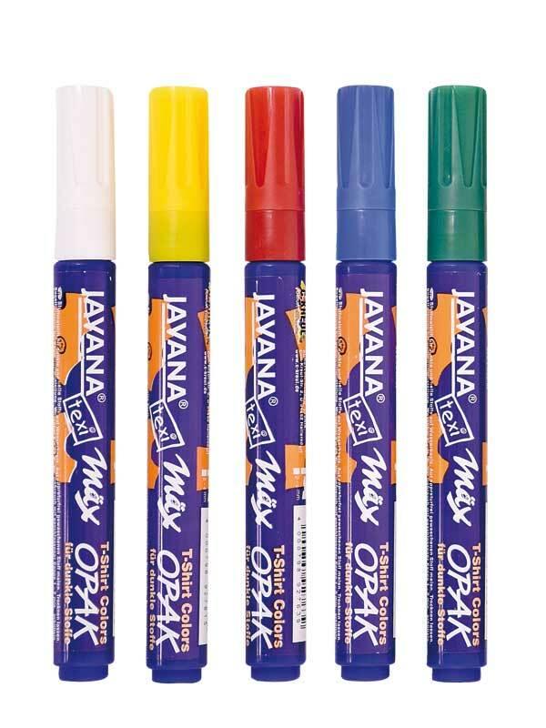 Stoffmalstifte Texi Mäx - 2 - 4 mm, opak, 5 Stück