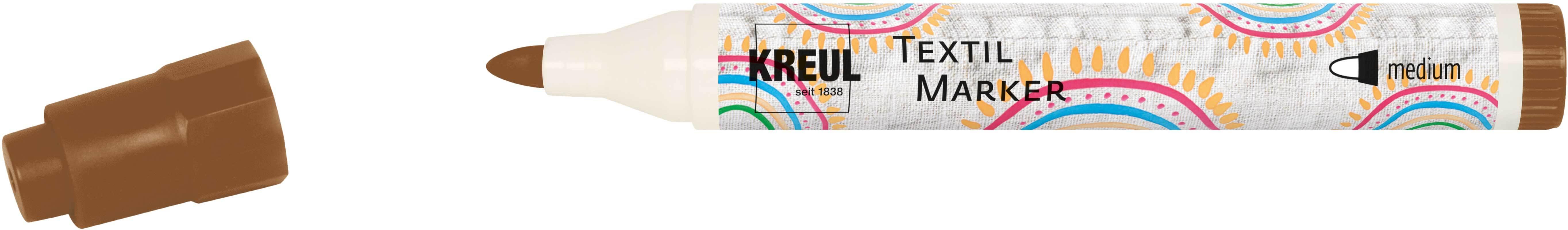 Marqueur textile - médium 2-4 mm, brun