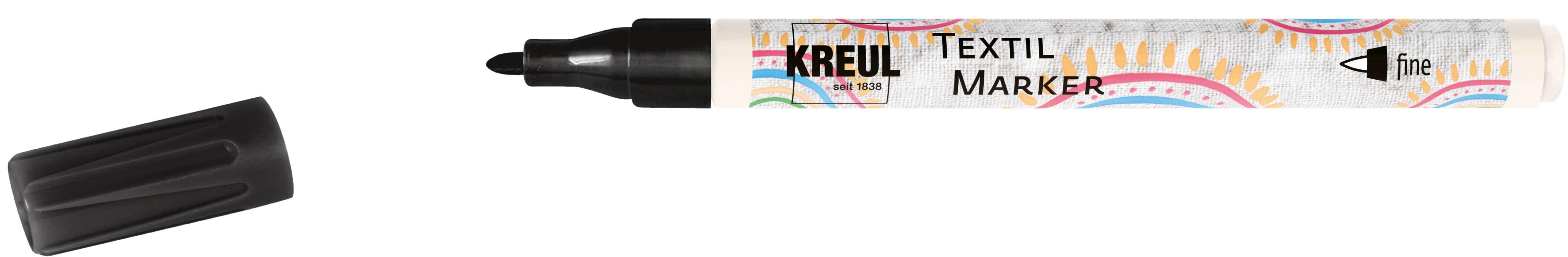 Textielmarker  - fijn, 1 - 2 mm, zwart