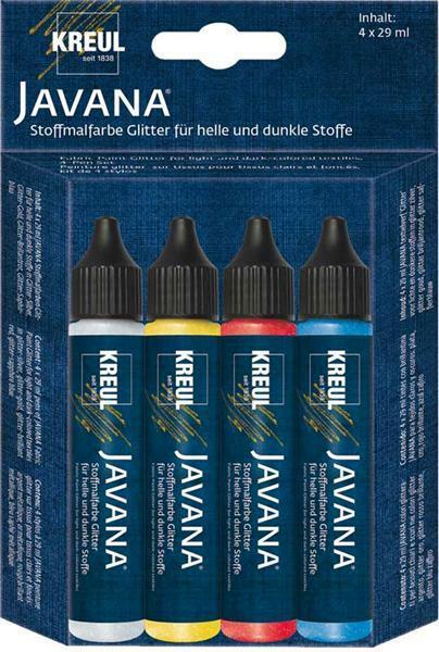 Marqueurs textile Javana - pailleté, 4 pces