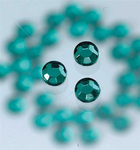 Strass stenen strijken - Ø 3 mm, 20 st., smaragd