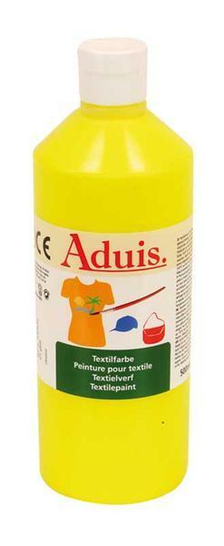 Peinture textile Aduis - 500 ml, jaune