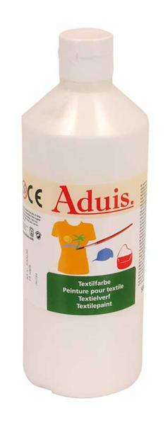 Stoffmalfarbe Aduis - 500 ml, weiß
