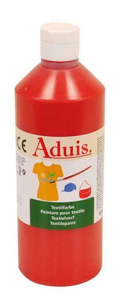 Peinture textile Aduis - 500 ml, rouge