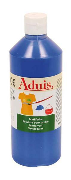 Peinture textile Aduis - 500 ml, bleu