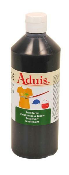 Peinture textile Aduis - 500 ml, noir