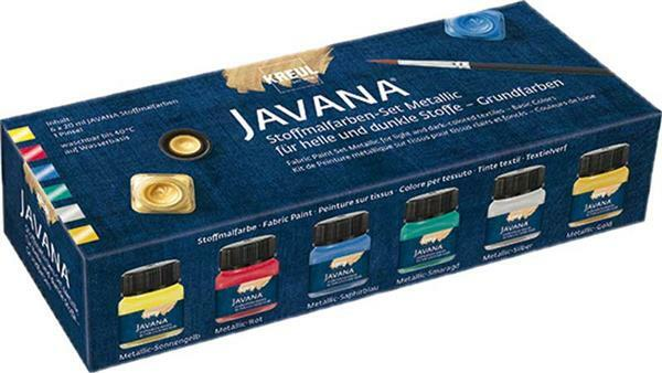 Javana Stoffmalfarben Set, metallic