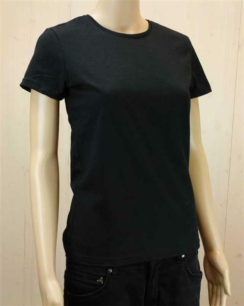 T-shirt vrouw - zwart, maat XL