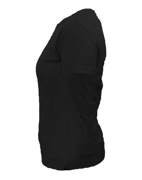T-shirt vrouw - zwart, maat XXL