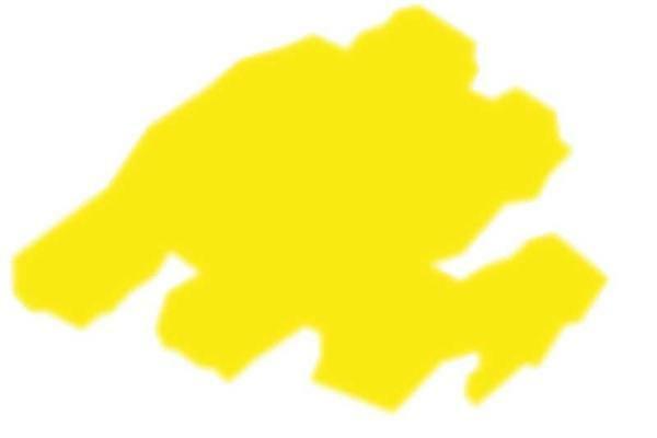 T-shirtmarker Texi Mäx, 2 - 4 mm, neon geel