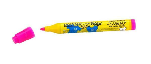 Stoffmalstift Texi Mäx - 2 - 4 mm, neonpink