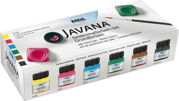 Javana zijdeverf set, primaire kleuren
