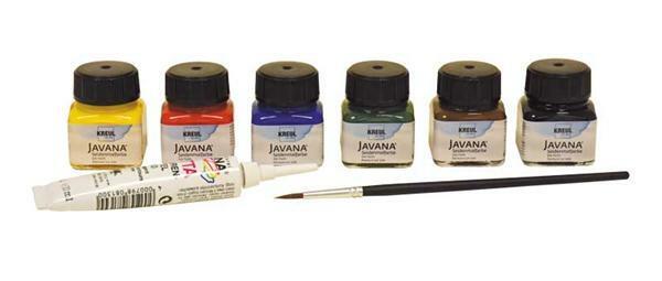 Javana - Set peinture sur soie, couleurs primaires