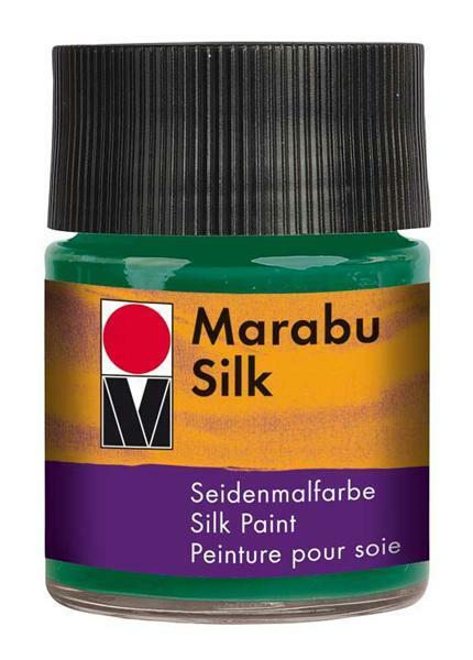 Seidenmalfarbe - 50 ml, tannengrün