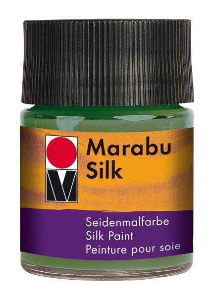 Seidenmalfarbe - 50 ml, olivgrün