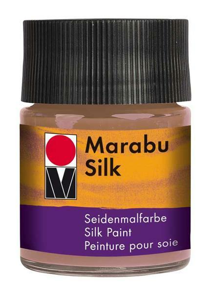 Zijdeverf - 50 ml, middelbruin