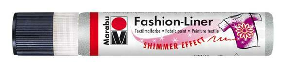 Marabu Fashion-Liner - 25 ml, zilver