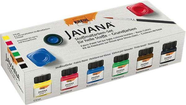 Javana Stoffmalfarben Set, Grundfarben
