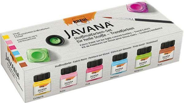 Javana textielverf-set, trendy kleuren