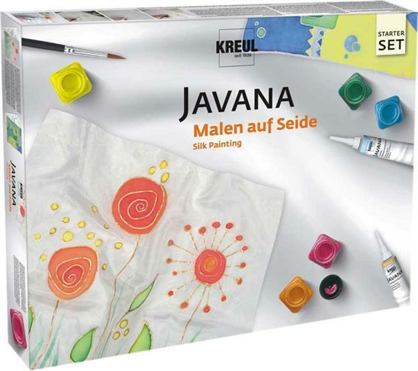 Javana - Set peinture sur soie, set de base