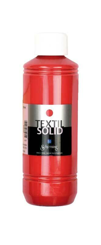 Stoffmalfarbe Textil Solid - 250 ml, rot